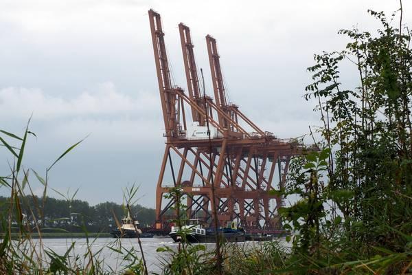 Containerkranen Ceres Terminal Op Weg Van Amsterdam Naar Tenerife